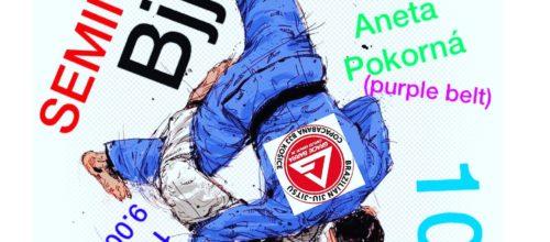 Seminár Brazílskeho jiu jitsu pod vedením nášho head coach Miloš Bosák a jeho asistentky Anety Pokornej.